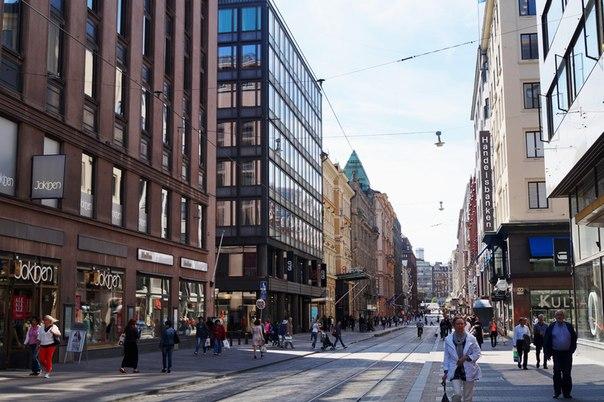 Торговая улица Хельсинки