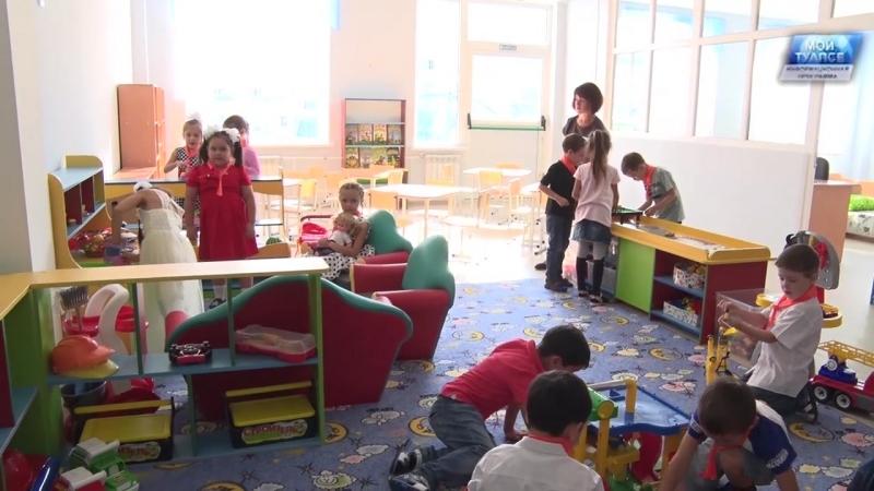 Открытие детского сада в Тенгинке