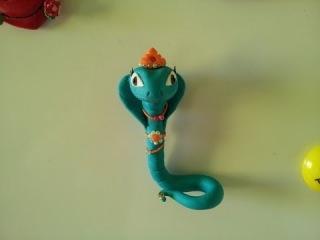Змея Хизетт - один из персонажей Монстер Хай из FIMO kids - МАСТЕР-КЛАСС, кукольная миниатюра