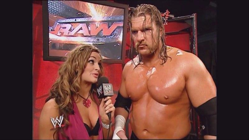 Triple H Maria Kanellis Backstage Raw Jan 30 2006