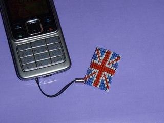 схема плетения брелок британский флаг из бисера картинка - Проверенные схемы.