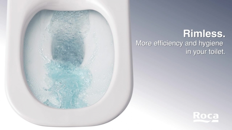 The Gap Rimless Toilet Suite from Roca