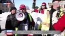 Желтые жилеты : Канадцы на грузовиках протестуют против решений властей в нефтеотрасли