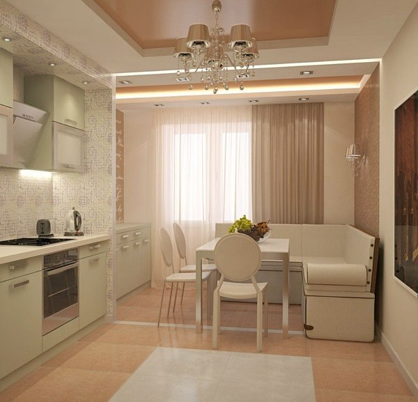 Спокойная и уютная кухня