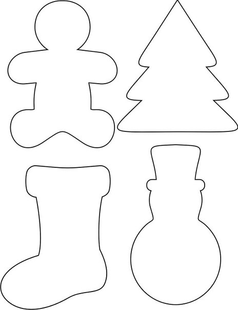 Игрушки на елку своими руками шаблоны