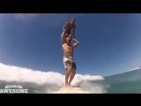 Что будет если совместить серфинг и акробатику