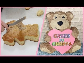 (vk.com/LakomkaVK) CUTE TEDDY BEAR CAKE - (How To)