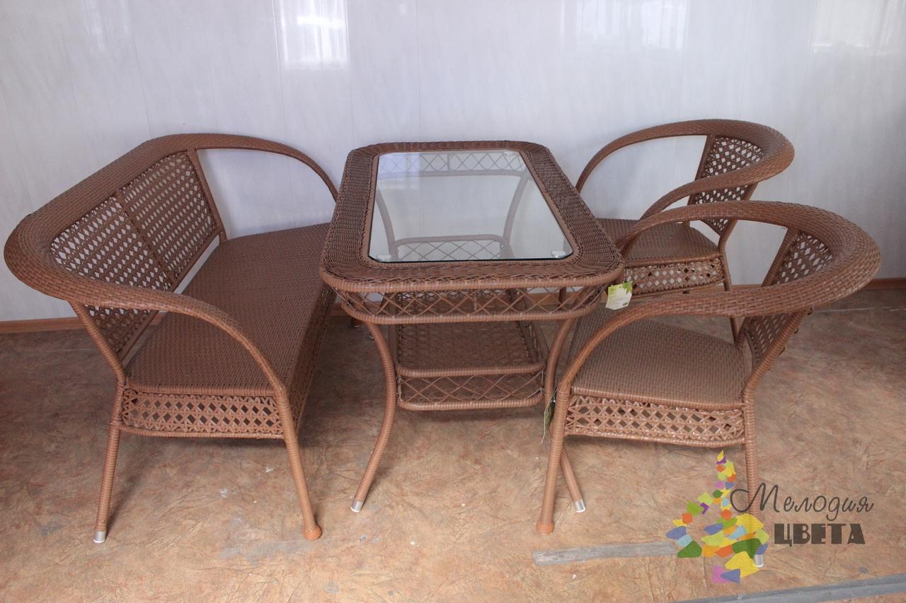 Комплект мебели Шампань Макс из искусственного ротанга