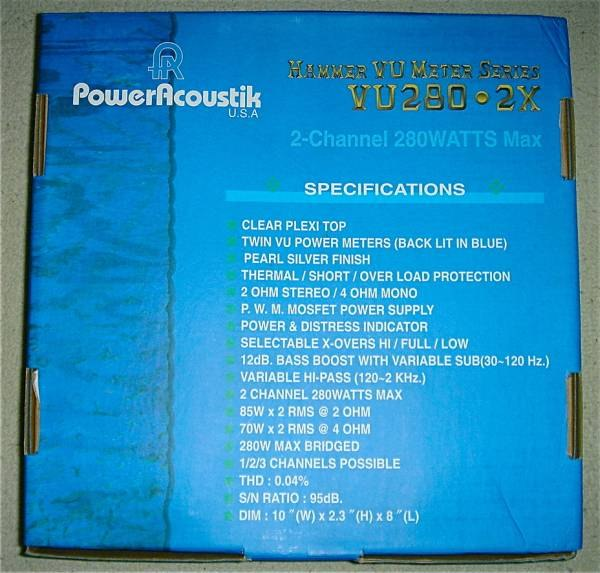 Power Acoustik VU-280 2X