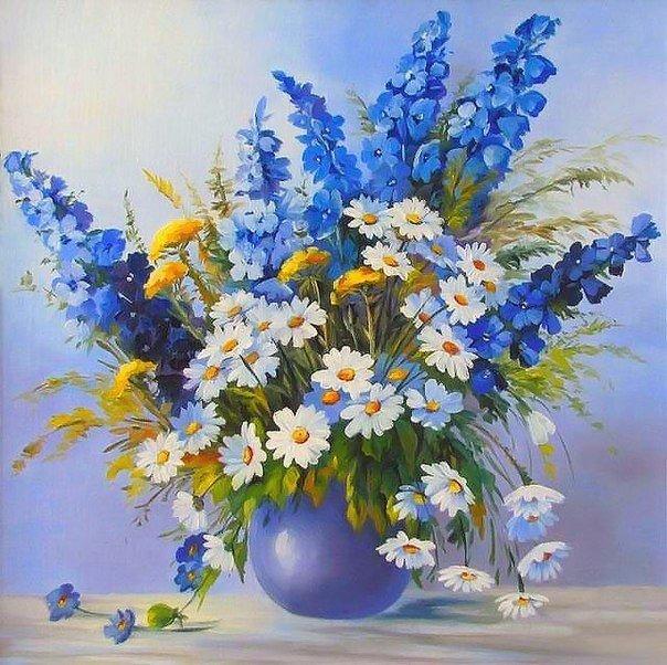 Синие цветочки (9 фото)