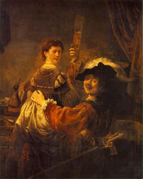 Когда Данаю стали реставрировать, - на нее маньяк набросился, - открылась тайна. Это разгадка всей жизни Рембрандта, - может, и так. Он просто всю жизнь любил одну женщину. Всю жизнь, до