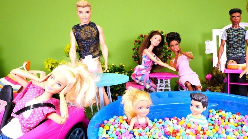 Barbie oyunları. Ken sürpriz doğum günü düzenliyor