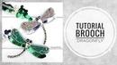 МК - Брошь Стрекоза с пайетками   Tutorial - Brooch of Dragonfly with sequins