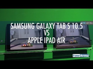 Samsung Galaxy Tab S 10.5 Vs Apple iPad Air Display Comparison