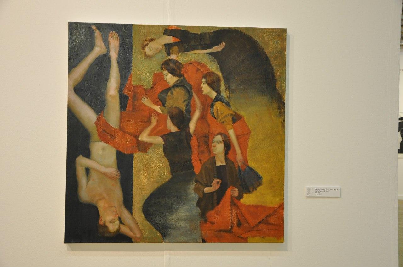 Союз художников Республики Казахстан  Нурбол Нурахмет (р. 1986)  Она. 2012  Холст, масло