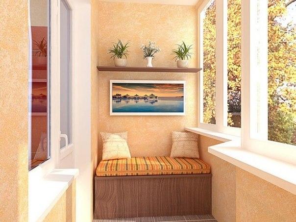 Зона отдыха на балконе, фото