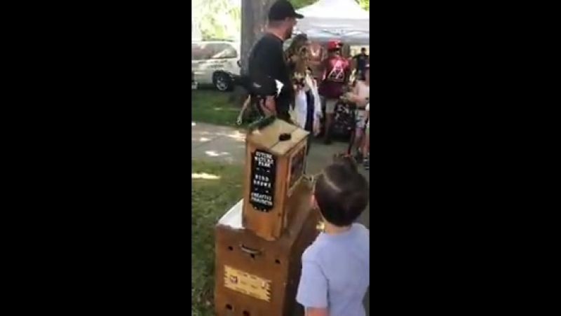 Сорока принимает пожертвования для местного птичьего убежища