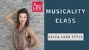 Salsa lady styling musicality class Anna LEV
