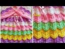 डिजाइनर फ्रॉक बनाये बची हुई ऊन से/Simple Colourful Jali Frock For GirlsDesign-218