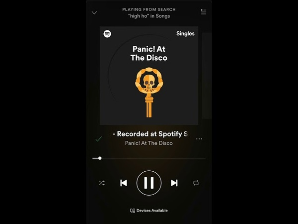 Panic! At the Disco- High Hopes Spotify Live