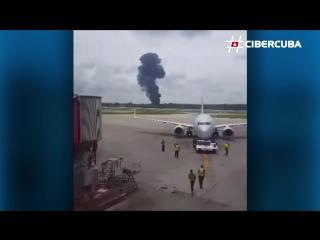 Самолет упал в Кубе
