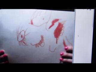 Лялюпета Анжели показывает папе свой рисунок)