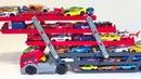 Хот Вилс Много Машинок Большой Трейлер Мультики про Машинки для Детей