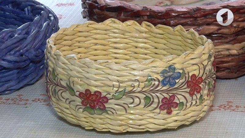 Плетение корзины из бумаги Утренний эфир