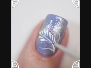 Легкий зимний дизайн ногтей