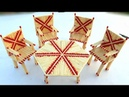 Match stick art how to make chair and table by useing matchstick match stick dining table making