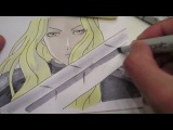 How to draw Teresa of the Faint Smile from Claymore 微笑のテレサ