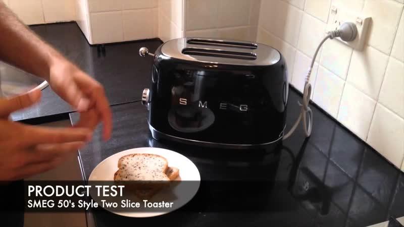 Распаковка и видео обзор тостера на два ломтика Smeg TSF01BLEU