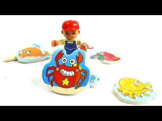 Мультфильм про море «Капитан на рыбалке». Учим названия морских животных и рыб.