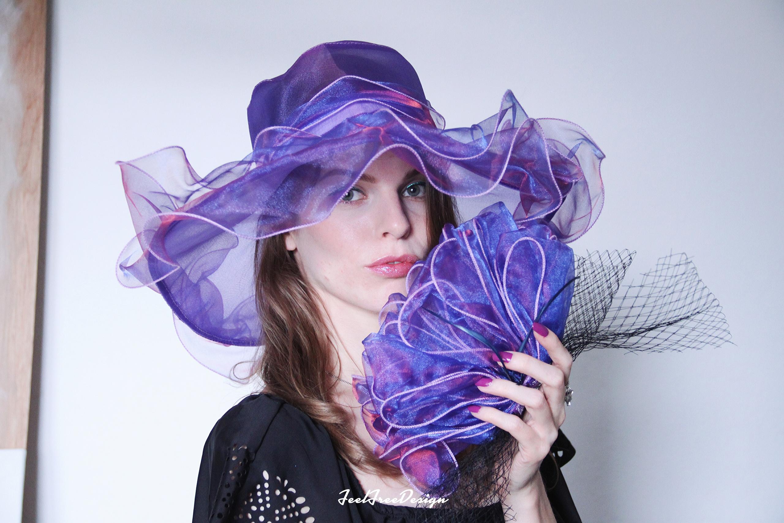 Super elegant organza hat