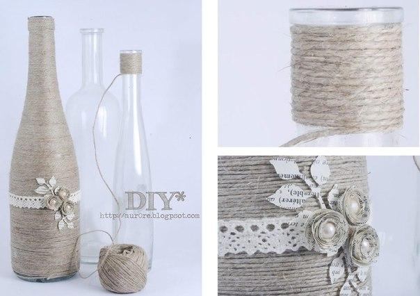 Идеи декорирование бутылок своими руками