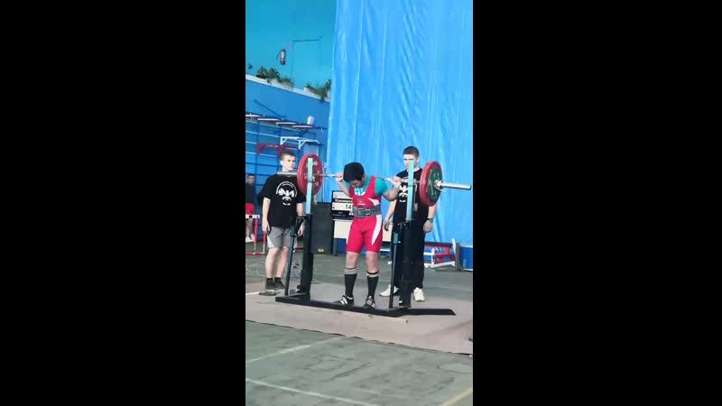 Жакижанов Саламат присед 145 кг