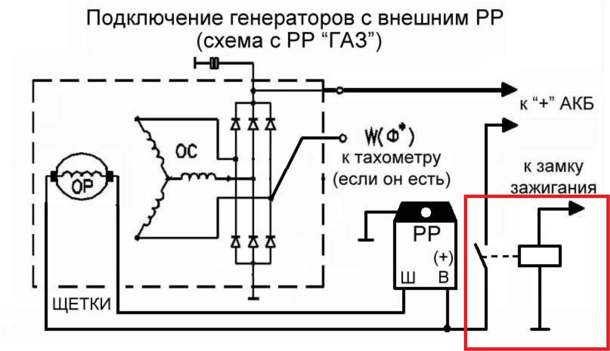 генератор 1631 3701 правильное подключение