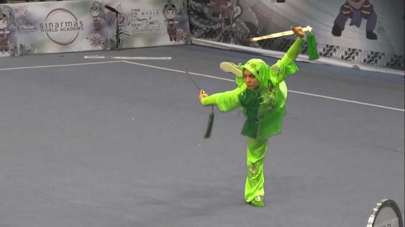 13th World Wushu Championships - Women Shuangjian 女子双剑 TUR Elif AKYUZ 9.50