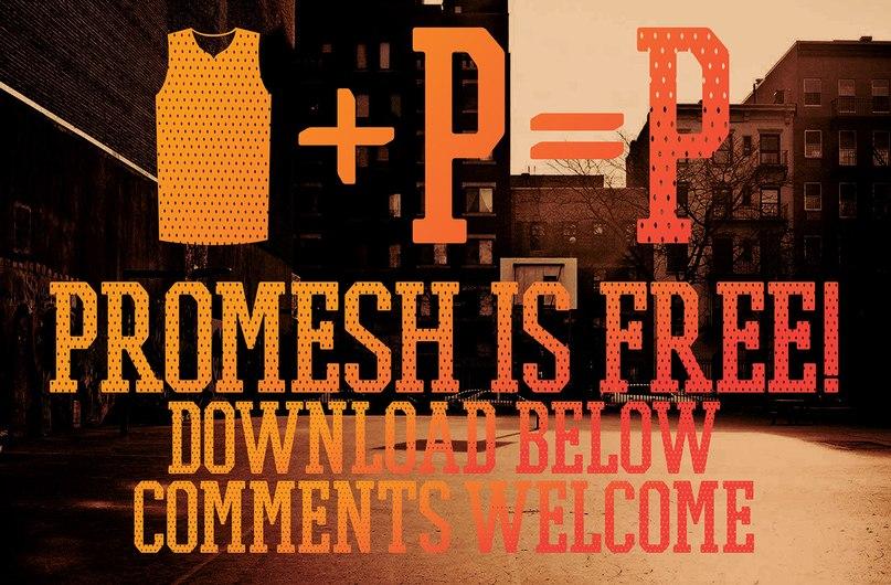Promesh Font шрифт скачать бесплатно
