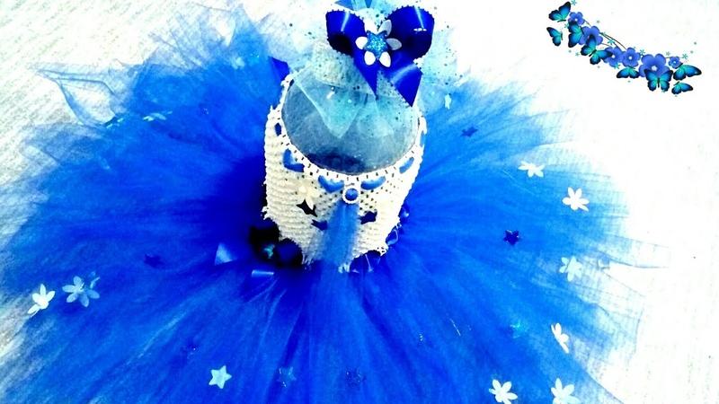 🌺Платье ТУ-ТУ для цветочной феи без шитья🌹❄/How to make Tutu Dress 🌹