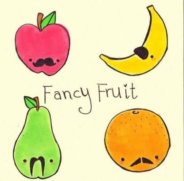 рисунки фрукты для личного дневника