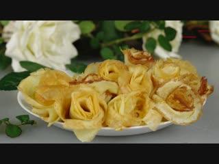 """РОЗЫ ИЗ БЛИНОВ Как красиво подать блины Roses of Pancakes""""},""""url"""" """""""