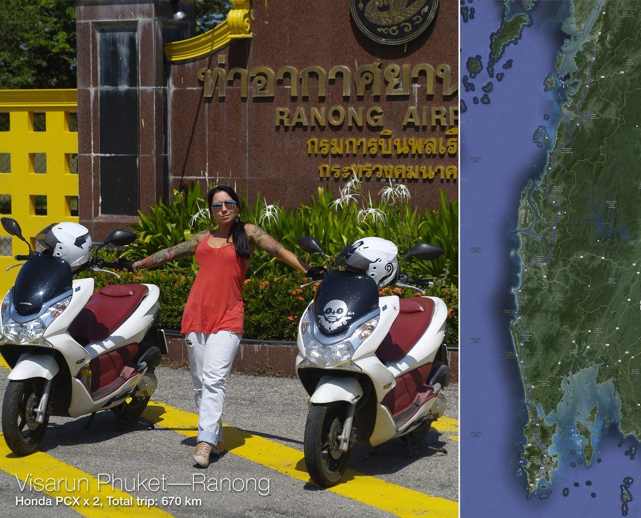Visarun Phuket Ranong on Honda PCX150