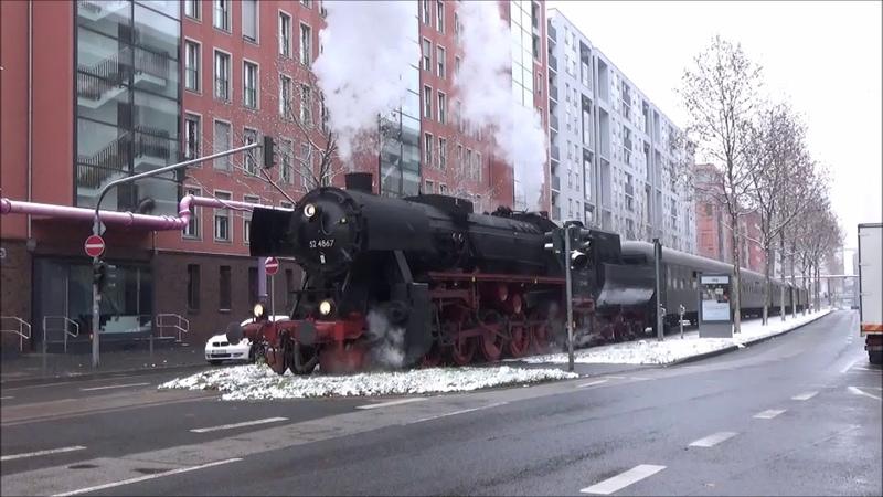 Hafenbahn Frankfurt, Fahrtag mit 52 4867 am 16.12.2018