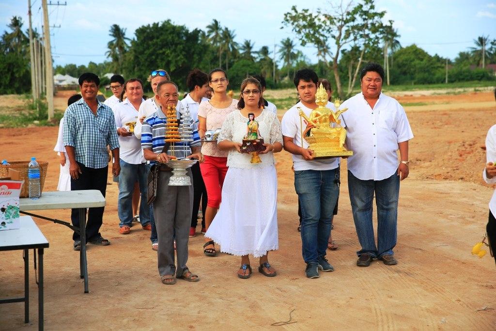 Освящение 6-й части русского поселка в Таиланде