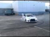 Mitsubishi Lancer Evolution X burnout