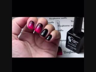 Градиент гель-лаками bagheera nails