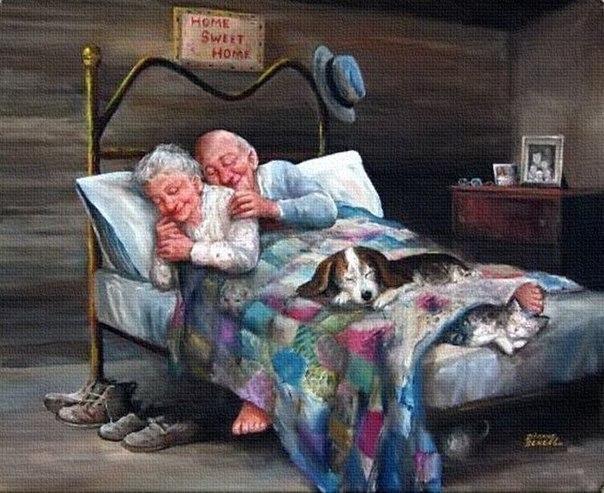 Настоящая любовь - это не любовь Ромео и Джульетты, которые умерли в один день. Это дедушка с бабушкой, которые прожили друг с другом всю жизнь и вместе состарились.