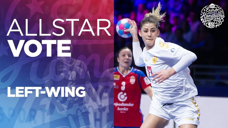 ALL STAR TEAM Selection Left wing Women's EHF EURO 2018