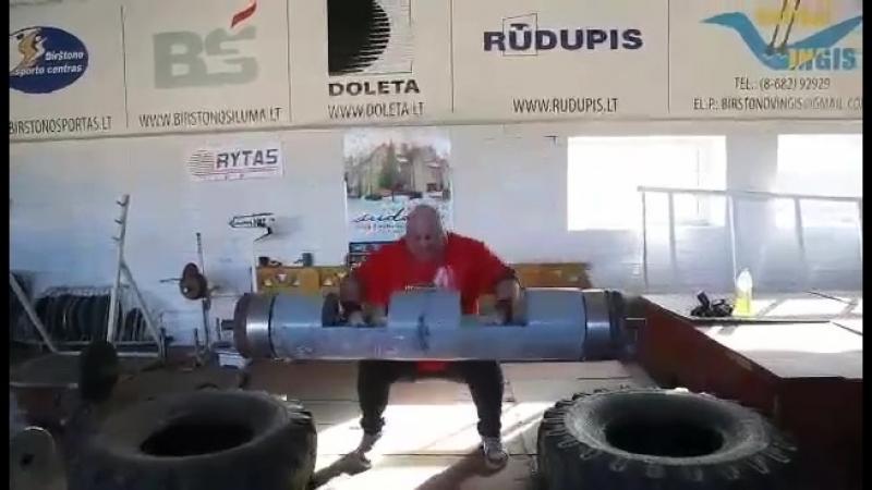 Видас Блекайтис (Литва), бревно - 170 кг на 2 раза 💪 подготовка к